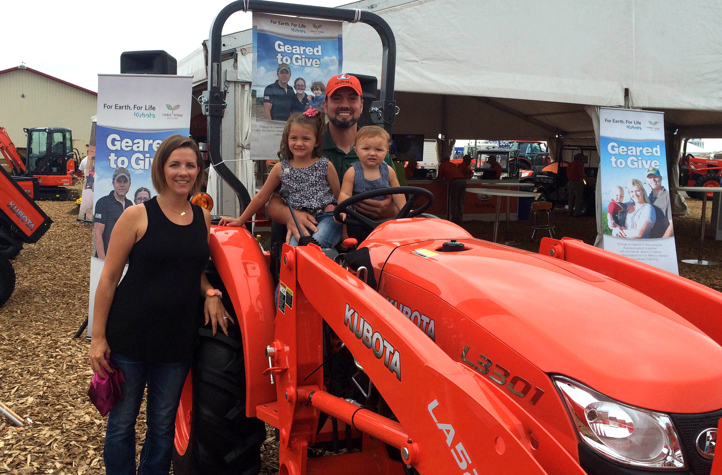 Geared to Give: FVC, Kubota Awards Sixth Tractor to Iowa Marine Vet
